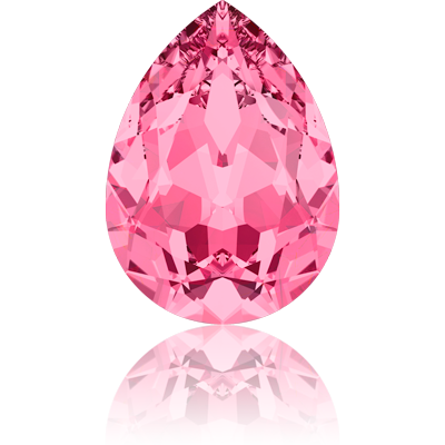 Swarovski fancy stones 10mm rose druppel