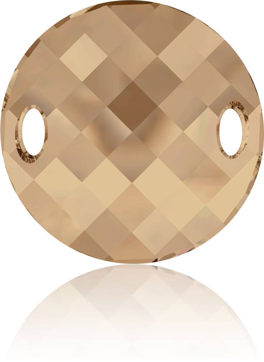 Swarovski 18mm bruin rond kristal