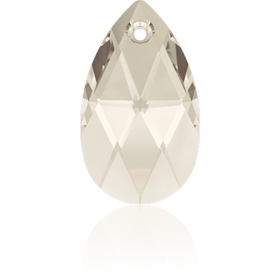Swarovski pear shaped pendant 16mm Crystal Silver Shade