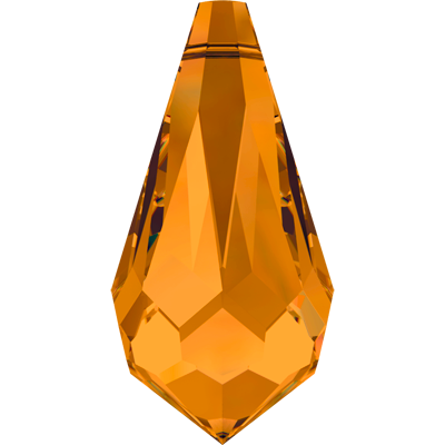 Swarovski Pendant 6000 13MM topaz 203