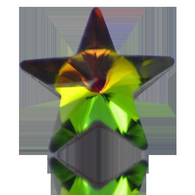 stenen 10mm groen ster
