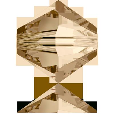 Swarovski XILION Beads 5328 konische kralen 3mm Crystal Golden Shadow