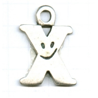 tinhangers 37mm oudzilver smiley tin