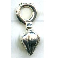 tinhangers 13mm zilver druppel tin