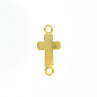 tussenzetsel 25mm goud kruis