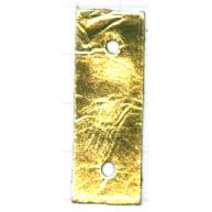 tussenzetsels 40mm goud rechthoek leer kleurnummer 22
