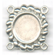 tussenzetsels 10mm zilver rond