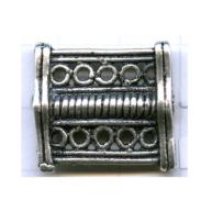 tussenzetsels 22mm oudzilver rechthoek tin