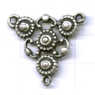 tussenzetsels 29mm oudzilver