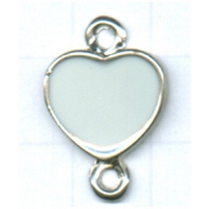 tussenzetsels 22mm zilver hartje