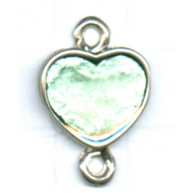 tussenzetsels 22mm zilver hartje kleurnummer 5312