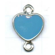 tussenzetsels 22mm zilver hartje kleurnummer 6314