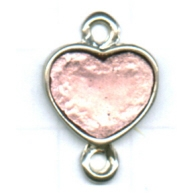 tussenzetsels 22mm zilver hartje kleurnummer 7310