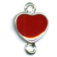 tussenzetsels 22mm zilver hartje kleurnummer 9320