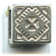 schuiver 9mm oudzilver vierkant