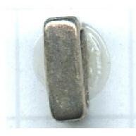 schuiver 9mm oudzilver rechthoek tin