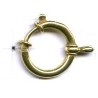 veerringsluitingen 20mm goud rond