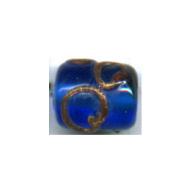 glaskralen 10mm blauw cilinder kleurnummer 6031