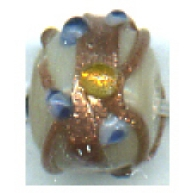 glaskralen 8mm bruin rond