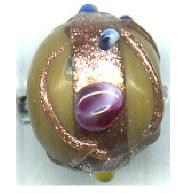 glaskralen 10mm bruin rond