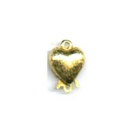 verdeelsluitingen 14mm goud hartje