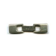 verdeelsluitingen 40mm oudzilver rechthoek