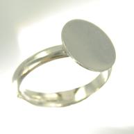 vingerringen 10mm zilver rond