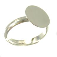 vingerringen 12mm zilver rond